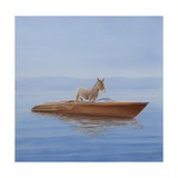 Donkey in a Riva, 2010 Giclée-tryk af Lincoln Seligman