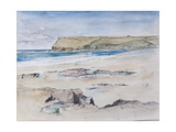 Polzeath and Pentire Head, 2007 Giclee Print by Caroline Hervey-Bathurst