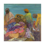 Sorting the Catch, Zanzibar Giclee Print by Kate Yates