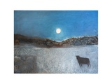 Sheep and Moon, 1997 Giclee Print by Pamela Scott Wilkie