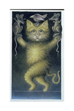 Cat on a Tightrope, Balancing with Bird and Mice Giclee Print by Wayne Anderson