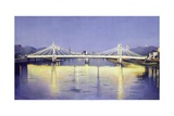 Albert Bridge (Twilight) Lámina giclée por Isabel Hutchison