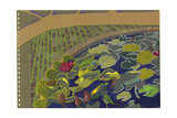 Water Lilies and Cobblestones Giclee Print by Hugh Bulley