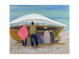 Boat Mending Giclee Print by Kate Yates
