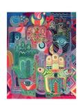Laila Shawa - Hands as Amulets II, 1992 Digitálně vytištěná reprodukce