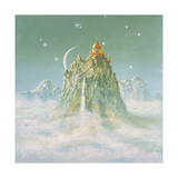 Temple in the Mountain Giclee Print by Simon Cook