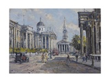 The National Gallery - Trafalgar Square in About 1920, 2008 Giclee Print by John Sutton
