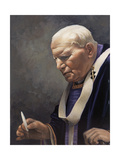 Study for a Portrait of Pope John Paul II (1920-2005) 2005 Giclee Print by James Gillick