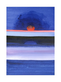 Seascape, Sunset, Helsinki, 1991 Giclee Print by Izabella Godlewska de Aranda