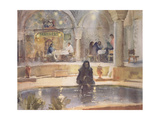 In the Teahouse, Kerman Giclee Print by Trevor Chamberlain
