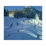 Two Ski-Slopes, 2004 Giclee Print by Andrew Macara
