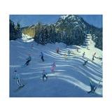 Two Ski-Slopes, 2004 Impressão giclée por Andrew Macara
