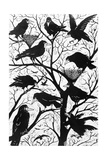 Rooks, 1998 Giclee Print by Nat Morley