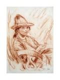 Dorelia Smoking Giclee Print by Augustus Edwin John