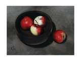 Apples in an Ebony Bowl, 2008 Giclee Print by James Gillick