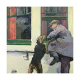 Breaking in - Locked Out, 1982 Giclee Print by Peter Wilson