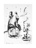 Still Life with Wine and a Smoke, 2011 Giclee Print by Chris Gollon