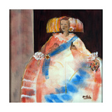 Menina with Sash and Flower Giclee Print by Marisa Leon