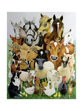 Animal Allsorts Giclee Print by Pat Scott