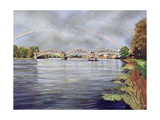 Barnes Railway Bridge, 1995 Giclee Print by Isabel Hutchison