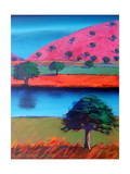 Pink Hill 2 Giclee Print by Paul Powis