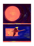 Sunset and Swan, 2003 Giclee Print by Derek Crow