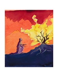 God Speaks to Moses from the Burning Bush, 2004 Giclee Print by Elizabeth Wang