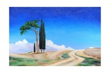 4 Trees, Picenza, Tuscany, 2002 Giclee Print by Trevor Neal