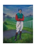 Jockey, Bill Smith Derby Winner, 1975 Giclee Print by Bettina Shaw-Lawrence