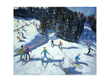 Mid-Morning on the Piste, 2004 Giclee Print by Andrew Macara