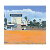 Lifeguard Hut on the Beach, Santa Monica, USA, 2002 Giclee Print by Peter Wilson