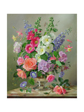 A September Floral Arrangement Giclee Print by Albert Williams