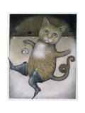 Puss in Boots Doing a Somersault Giclee Print by Wayne Anderson