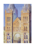 Main Entrance of the Natural History Museum, London, Sunset, 1994 Giclee Print by Izabella Godlewska de Aranda