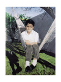 Christian, or The Shy Boy Giclee Print by Robert Aragon
