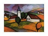 Village Giclee Print by Emil Parrag