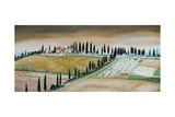 Villa on Hill, Tuscany, 2001 Giclee Print by Trevor Neal