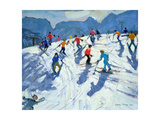 Busy Ski Slope, Lofer, 2004 Giclee Print by Andrew Macara
