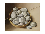 Bowl of Pebbles, 2005 Giclee Print by Jenny Barron