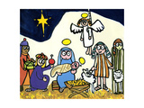 Children's School Nativity Play, 2004 Gicléedruk van Jane Freeman