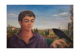 Boy with Raven, 1962 Giclee Print by Bettina Shaw-Lawrence
