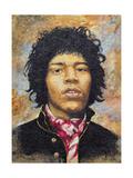 Hendrix (1942-70) Giclee Print by Trevor Neal