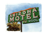 Arizona Motel on 6th Avenue, 2004 Giclee Print by Lucy Masterman