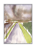 Storm on Route, 1995 Giclee Print by Claudia Hutchins-Puechavy