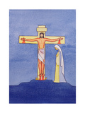 Mary Stands by the Cross as Jesus Offers His Life in Sacrifice, 2005 Giclee Print by Elizabeth Wang