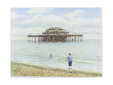 Brighton West Pier, 2004 Giclee Print by Tom Young