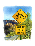 Share the Road, Gates Pass, 2004 Giclee Print by Lucy Masterman