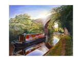 Kate Boat on the Grand Union Canal, 2001 Giclee Print by Kevin Parrish