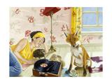 Our Fabulous Babysitter Giclée-Druck von Alix Soubiran-Hall