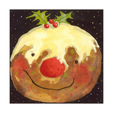 Christmas Pudding Giclee Print by David Cooke